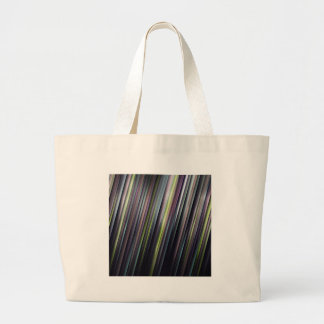 Colorful Glowing Stripes Large Tote Bag