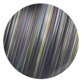 Colorful Glowing Stripes Plate