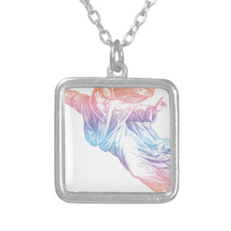 Colorful God Silver Plated Necklace