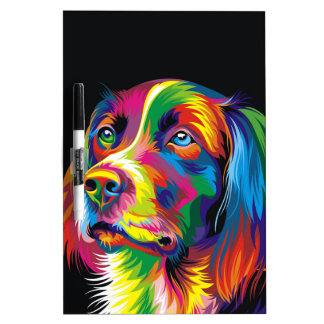 Colorful golden retriever Dry-Erase whiteboard