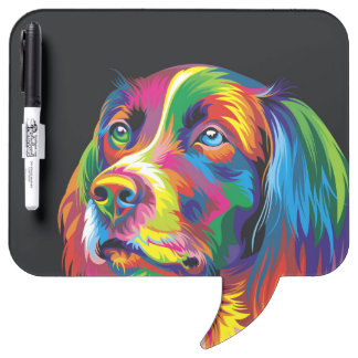 Colorful golden retriever dry erase whiteboards
