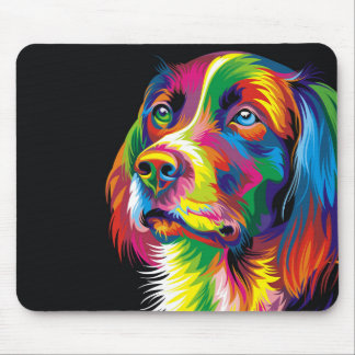 Colorful golden retriever mouse pad
