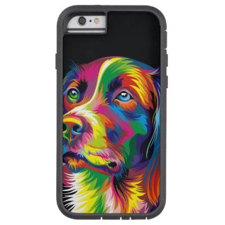 Colorful golden retriever tough xtreme iPhone 6 case