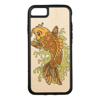 Colorful Goldfish Koi Carved iPhone 7 Case