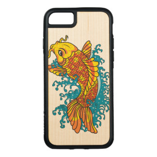 Colorful Goldfish Koi Carved iPhone 8/7 Case