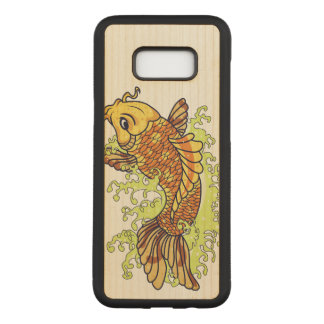 Colorful Goldfish Koi Carved Samsung Galaxy S8+ Case