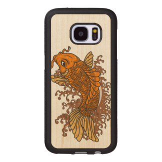 Colorful Goldfish Koi Wood Samsung Galaxy S7 Case