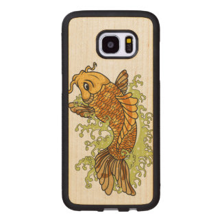 Colorful Goldfish Koi Wood Samsung Galaxy S7 Edge Case