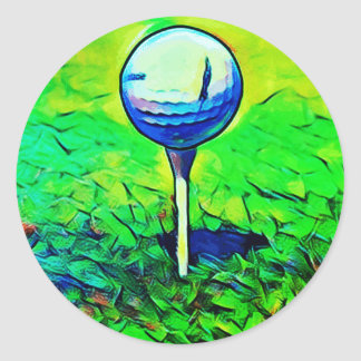 Colorful Golf Course Tee Off Stickers