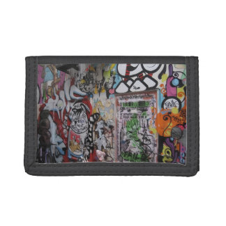 Colorful Graff Trifold Wallet