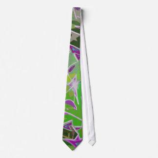 Colorful Graffiti Abstract Design (Green) Necktie