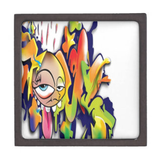Colorful graffiti artwork design premium jewelry box