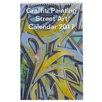 Colorful Graffiti Painting Street Art 2017 Calendar