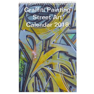 Colorful Graffiti Painting Street Art 2018 Calendars