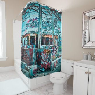 Colorful Graffiti Street Art Shower Curtain