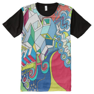 Colorful Graffiti Style Artwork All-Over-Print T-Shirt