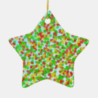 colorful grain of sand ceramic star ornament