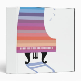 Colorful Grand Piano Binder