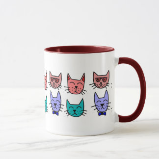 Colorful Graphic Cats Mug