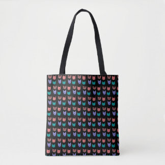 Colorful Graphic Cats Tote Bag