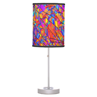 Colorful Graphic Fractal Print Lamp by Juleez
