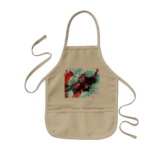 Colorful Graphic Tiger Style Kids Apron