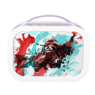 Colorful Graphic Tiger Style Lunchbox