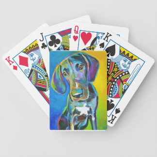 Colorful GREAT DANE Bicycle Playing Cards