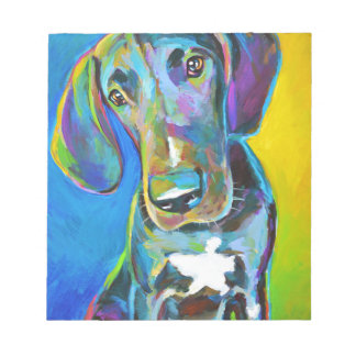 Colorful GREAT DANE Notepad
