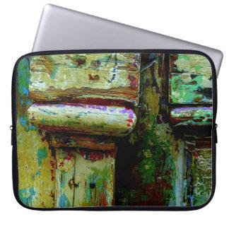 Colorful greek door laptop sleeve. laptop sleeve