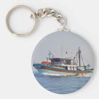 Colorful Greek Fishing Boat Keychain
