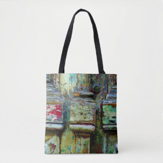 Colorful greek tote bag.