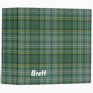 Colorful Green Currie Tartan Plaid Binder