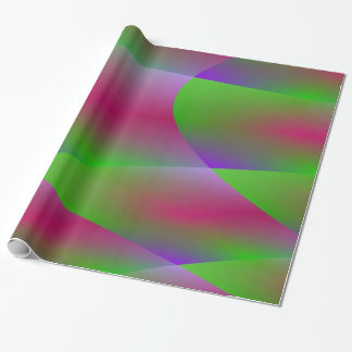 Colorful Green Plasma Fractal Wrapping Paper