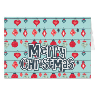 Colorful greetings cards for Merry Christma