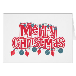 Colorful greetings cards for Merry Christmas with