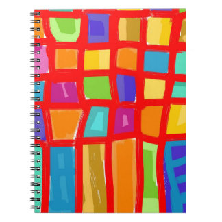 Colorful Grid Collection Spiral Notebook