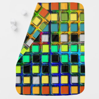 Colorful Grid-Tiled by Shirley Taylor Baby Blanket
