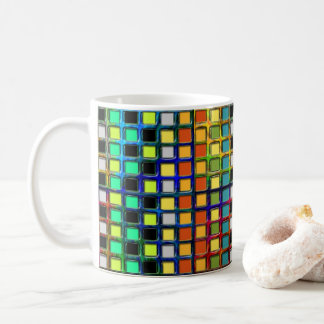 Colorful Grid-Tiled by Shirley Taylor Coffee Mug