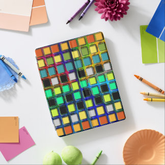 Colorful Grid-Tiled iPad Cover