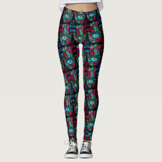 Colorful Groovy Hamsas Leggings