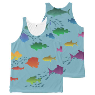 Colorful Group of Fish Underwater All-Over-Print Tank Top