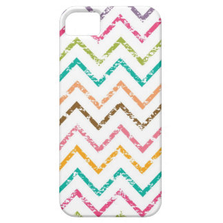 Colorful grunge chevron zig zag pattern iPhone 5 cover