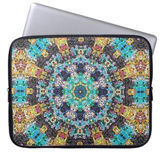 Colorful Grunge Mandala Laptop Sleeve