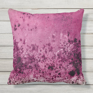 Colorful grunge texture Outdoor Throw Pillow