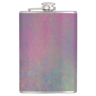 Colorful, Grungy Texture Abstract Remix Hip Flask