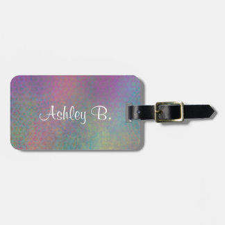 Colorful, Grungy Texture Abstract Remix Luggage Tag