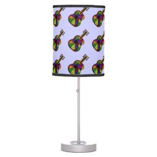 Colorful Guitar Folk Art Lamp