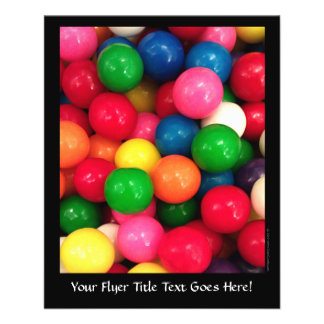 Colorful Gum Ball Candy Flyer