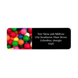Colorful Gum Ball Candy Return Address Label